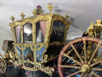 Kočárovna v expozici muzea - ceremoniální vůz