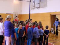 Zazpívali jsme českou i slovenskou hymnu a oblíbenou píseň TGM Ach synku, synku.