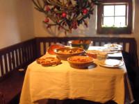 stolování na Štědrý večer