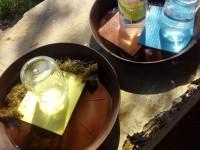 Anička a Štěpánka - pítko pro včelky