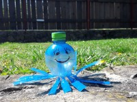 Kristýnka - výroba z recyklovaného materiálu - chobotnice