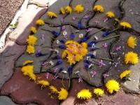 Kuba - mandala z květin