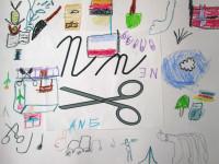 Nové N jako nůžky, noty, ...